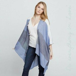 Do Everything In Love Kimono Wrap Duster Colorbloc